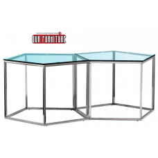 31-059 SILVER HONEYCOMB COFFEE TABLE
