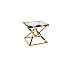 31-068-G GOLD NARNIA SIDE TABLE