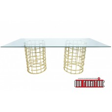 31-070 HARDLEY DINING TABLE GOLD