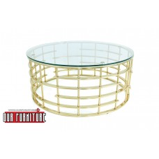 31-073 GOLD HARDLEY COFFEE TABLE