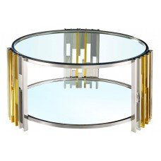31-074 MANILA SILVER AND GOLD COFFEE TABLE
