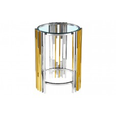 31-075 MANILA SILVER AND GOLD SIDE TABLE