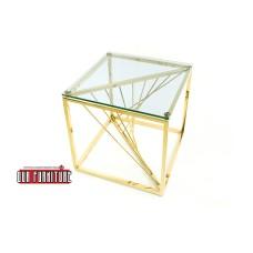 31-078 BRIDGE GOLD SIDE TABLE