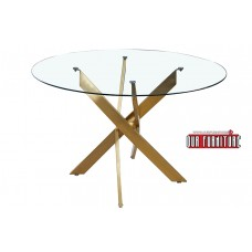 34-069  LARGE GOLD SWORD DINING TABLE