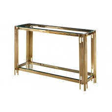34-072 GOLD VEGAS  CONSOLE TABLE