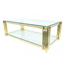 34-077 GOLD VEGAS COFFEE TABLE