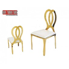 53-007 GOLD DINING CHAIR