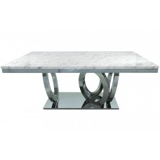 53-156 SILVER SULTANA DINING TABLE