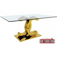 53-157- G GOLD COCO DINING TABLE