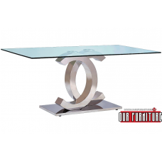 53-157-S SILVER COCO DINING TABLE