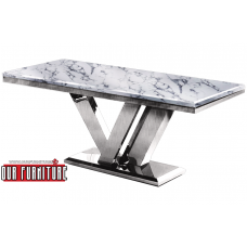 53-160 BAY VIEW FAUX MARBLE TOP DINING TABLE