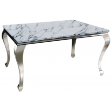 53-163 TUSK FAUX MARBLE TOP DINING TABLE