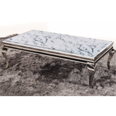 53-164 TUSK FAUX MARBLE TOP COFFEE TABLE