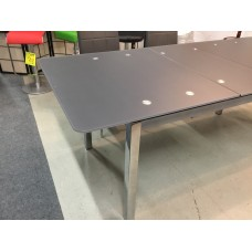 34-201 SUNSHINE EXPANDABLE DINING TABLE WITH ACID PROCESSED GLASS