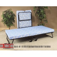 "IF-380 FOLDING BED  WITH 3"" THISK FOAM MATTRESS."