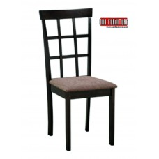 C-1010  BROWN FABRIC DINING CHAIR