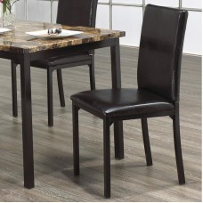 C-1016 BROWN PU DINING CHAIR