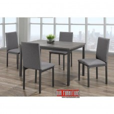 IF-1526  DISTRESSED WOODEN  DINING TABLE + 4 CHAIRS