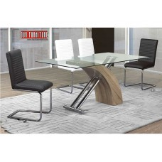 T-1042  TEMPERED GLASS TOP  MODERN  DINING TABLE