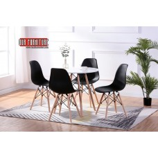 T-1405  ROUND LACQUERED EIFFEL DINING TABLE