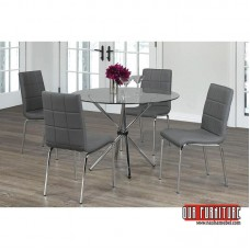T-1430 ROUND GLASS TOP DINING TABLE