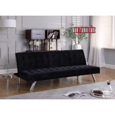 IF-346 BLACK VELVET SOFA BED