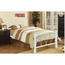 IF-111 WHITE METAL SINGLE,DOUBLE,QUEEN SIZE METAL BED
