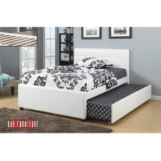 IF-124 WHITE PU SINGLE,DOUBLE BED