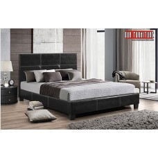 IF-130-B BLACK PU DOUBLE, QUEEN, KING SIZE BED