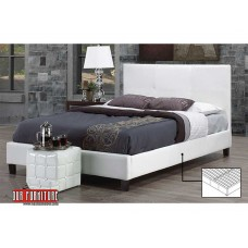 IF-130-W WHITE PU DOUBLE, QUEEN,KING SIZE BED