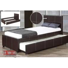 IF-132 BLACK PU SINGLE  BED