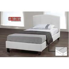 IF-133-W WHITE PU SINGLE,DOUBLE,QUEEN BED