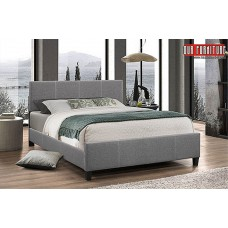 IF-137  LIGHT GREY FABRIC SINGLE,DOUBLE,QUEEN SIZE BED
