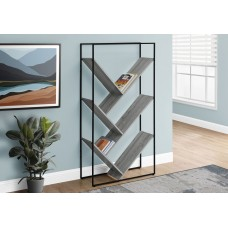 "I 2200 BOOKCASE - 60""H / GREY / BLACK METAL"