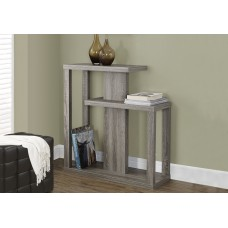 """I 2472 ACCENT TABLE - 32""""L / DARK TAUPE HALL CONSOLE"""