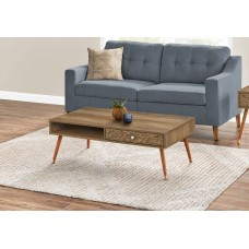 I 2836 COFFEE TABLE - WALNUT MID-CENTURY WITH A DRAWER