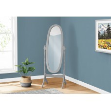 "I 3155 MIRROR - 59""H / GREY OVAL WOOD FRAME"