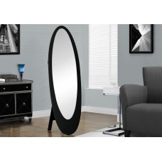 "I 3364 MIRROR - 59""H / BLACK CONTEMPORARY OVAL FRAME"