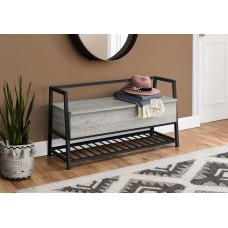 "I 4500 BENCH - 42""L / GREY STORAGE / BLACK METAL"