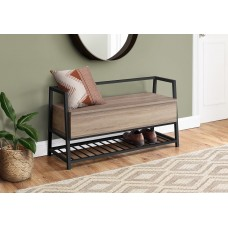 "I 4501 BENCH - 42""L / DARK TAUPE STORAGE / BLACK METAL"