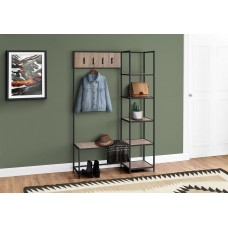 "I 4511 BENCH - 72""H / DARK TAUPE / BLACK METAL HALL ENTRY"
