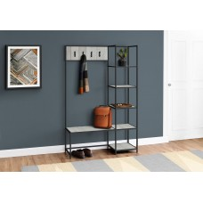 "I 4512 BENCH - 72""H / GREY / BLACK METAL HALL ENTRY"
