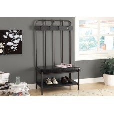 "I 4545 BENCH - 60""H / CHARCOAL GREY METAL HALL ENTRY"