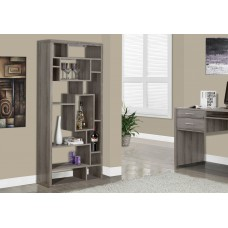 "I 7072 BOOKCASE - 72""H / DARK TAUPE"