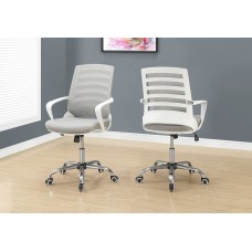 I 7225 OFFICE CHAIR - WHITE / GREY MESH / MULTI POSITION