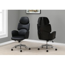 I 7321 OFFICE CHAIR - BLACK LEATHER-LOOK / HIGH BACK EXECUTIVE