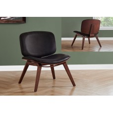 I 8168 ACCENT CHAIR - DARK BROWN LEATHER-LOOK FABRIC