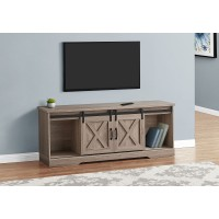 """I 2746 TV STAND - 60""""L / DARK TAUPE WITH 2 SLIDING DOORS"""