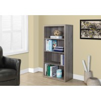 """I 7060 BOOKCASE - 48""""H / DARK TAUPE WITH ADJUSTABLE SHELVES"""