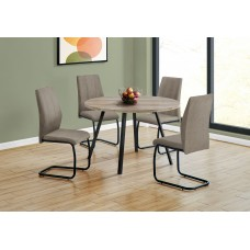 """I 1152 DINING TABLE - 48""""DIA/ TAUPE RECLAIMED WOOD / BLACK METAL"""